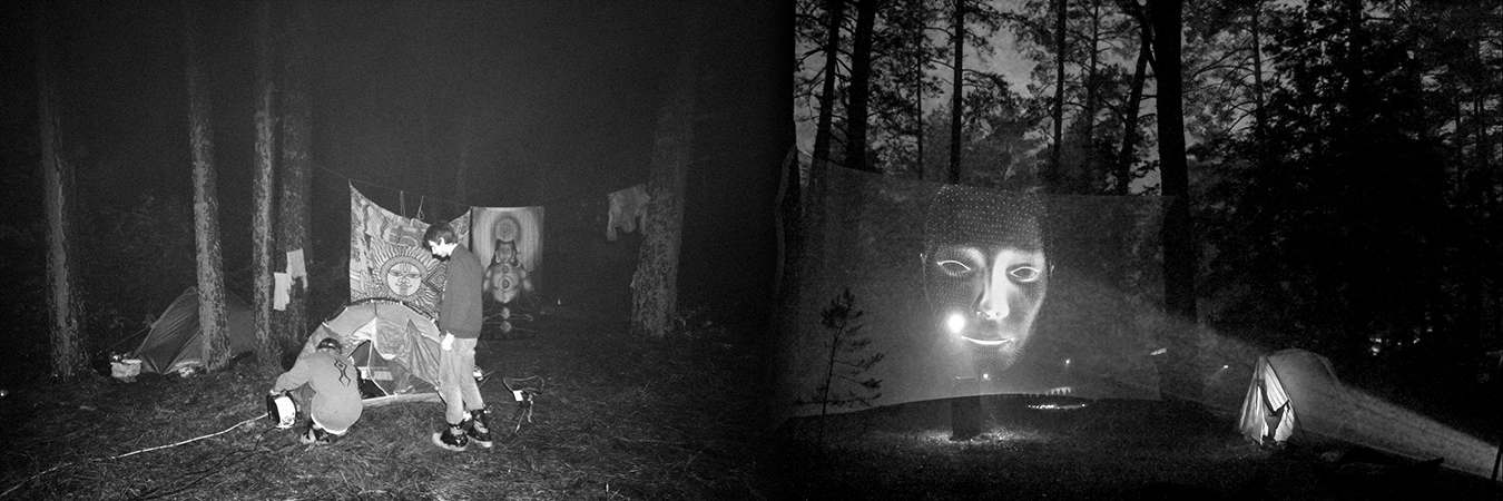 Holographic installation in the forest (7)